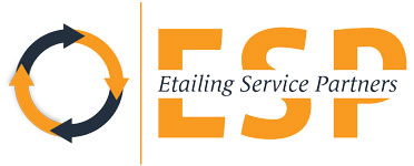 Etailing Service Partners logo in orange and blue