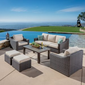 Mission Hills Outdoor furniture near pool